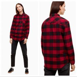 Aritzia TNA Brisco Plaid Flannel Shirt